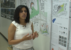 Fourth-year student Huda Al Harith, at the New School of Architecture and Design, tells how her group wanted to redevelop the Qualcomm Stadium site if the Chargers abandon it.