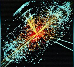 Image of Higgs boson particle.