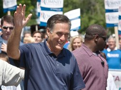 Republican presidential candidate Mitt Romney on July 4 in Wolfeboro, N.H.