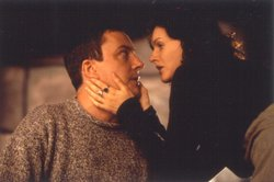 Stephen Tompkinson as Father Peter Clifford and Dervla Kirwan as Assumpta Fitzgerald from the television series BALLYKISSANGEL.