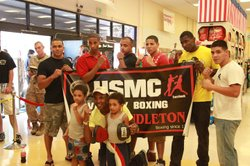 Camp Pendleton Varsity Boxing Team Meets Sugar Ray Leonard