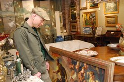 MARKET WARRIORS picker Bob Richter searches for treasure.