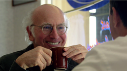 "Larry David is one of the guests on Jerry Seinfeld's latest web series, ""Comedians In Cars Getting Coffee."""
