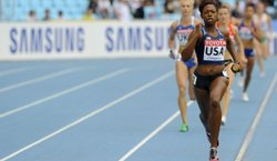 Keshia Baker, 24, an SDSU graduate student who's headed to the Olympics.