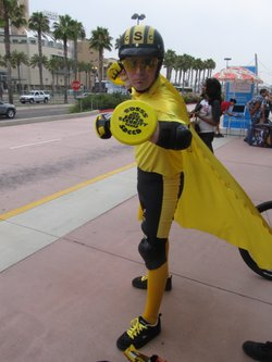 Tony Wayne O'Bryan in his Super Hero Security Guard costume. Would you mistake him for the real thing?