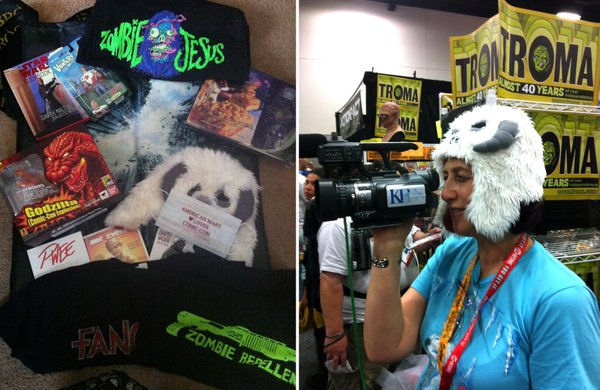 Some of my swag and purchases... including the Wampa hat I wore when I was shooting.
