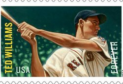 The Ted Williams stamp.
