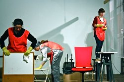 A scene from the play &quot;American Realism,&quot; directed by Katherine Brook, from a 2011 performance at The Invisible Dog in Brooklyn.