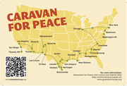 Proposed route for the upcoming Caravan for Peace to be led my Mexican Poet/Activist Javier Sicilia.