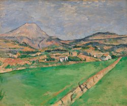"""Mont Sainte-Victoire"" by Paul Cezanne."