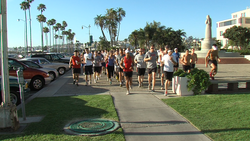Runners with the San Diego Running group.