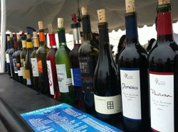 Local Valle de Guadalupe wines being served at a Fiestas de la Vendimia pre-party in Ensenada, Baja California, July 14, 2012