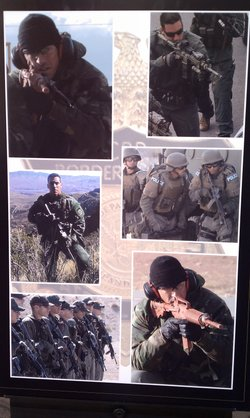 U.S. Border Patrol Agent Brian Terry on a training assignment. The photos were displayed at his memorial in Tucson after he was murdered in 2010.