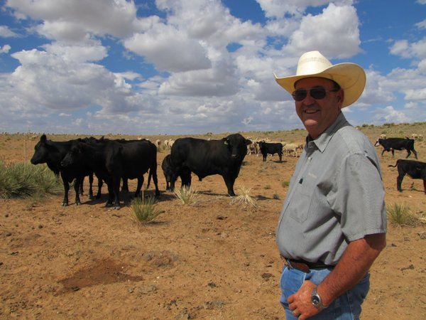 Mike Corn is a lifelong rancher who's family has been in the Roswell, N.M. area for more than 100 years. The current drought is the worst he's ever seen.
