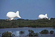 The Tethered Aerostat Radar System is a balloon-borne radar.