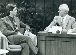 "Comedian David Steinberg on ""The Tonight Show with Johnny Carson."" Steinberg made 140 appearances on the show, the second most frequent guest behind Bob Hope."