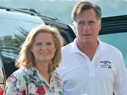 Ann and Mitt Romney, who this week is set to accept the Republican presidential nomination, on Sunday in Wolfeboro, N.H.