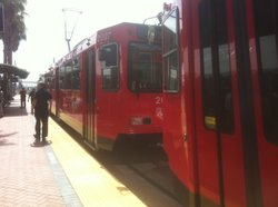 A national study has shown that trolley trips in the San Diego area fell 4.71 percent in 2012, compared to 2011.