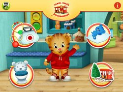 DANIEL TIGER'S NEIGHBORHOOD: Play at Home with Daniel (app menu screen pictured) is PBS KIDS' first app from the new series inspired by the work of Fred Rogers. The app, designed for children ages 2-4 and available now for iPhone, iPad and iPod touch, makes the series' social-emotional school readiness curriculum available to parents and children on the go.