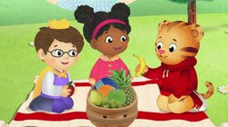 "DANIEL TIGER'S NEIGHBORHOOD stars 4-year-old Daniel Tiger (pictured here, in a story from the pilot episode ""Daniel's Picnic""), son of the original program's Daniel Striped Tiger, who invites young viewers into his world, giving them a kid's eye view of his life."