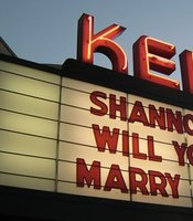 The Ken marquee has been used for birth announcements and wedding proposals among other things.
