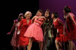 Chloe Voreis' (center) performance in BROADWAY OR BUST.