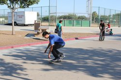 Skateboarders in City Heights skate wherever they can, in hopes that a skatepark will someday be built in theirneighborhood. 