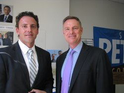 State Assemblyman, Independent Nathan Fletcher with Democratic Congressional candidate, Scott Peters