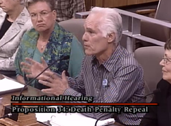 Former Los Angeles District Attorney Gil Garcetti was one of several who spoke in favor of Proposition 34, which would repeal the death penalty in California.