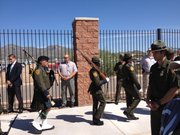 A U.S. Border Patrol Honor Guard at the renaming ceremony for the Brian A. Terry Border Patrol Station in Naco, Ariz. on Sept. 16.