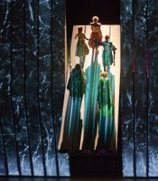 A scene from Wagner&#39;s &quot;Das Rheingold&quot; in Robert Lepage&#39;s production.