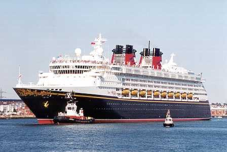 The Disney Wonder cruise ship.