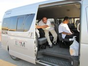 Deportees dropped off at Nuevo Laredo's port of entry are transported by Mexican immigration officials to local shelters. The overall insecurity of the city makes it a dangerous place for deportees.