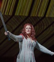 Deborah Voigt as Brnnhilde in Wagner&#39;s Gtterdmmerung.