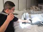 A customs agent inspects recycled material that&#39;s being transported from Mexico to the United States. Since the Sept. 11, 2001, terrorist attacks the inspection process at U.S. ports of entry has intensified. 