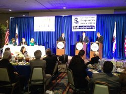 The San Diego County Taxpayers Association debate on Oct. 3, 2012.