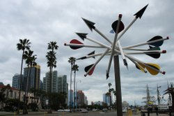 Public art along San Diego's waterfront.