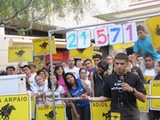 Young activists from the 'Adios Arpaio' campaign at a September rally. On the eve of the voter registration deadline, the campaign reported collecting more than 30,000 voter forms.