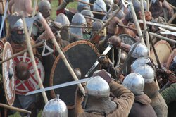 "Each year, hundreds of Viking reenactors meet for the ""Big Battle"" at the Viking Festival in Wolin, Poland. The Vikings are supposed to be some of the fiercest fighters in history."