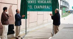 Mexican President Felipe Calderon unveiled an improved border crossing on the Mexican side, dubbed &quot;El Chaparral.&quot; 