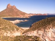 The port city of Guaymas, Sonora, Mexico is located on the Sea of Cortez.