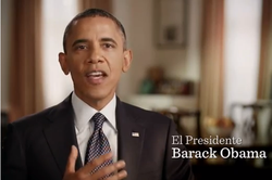 President Barack Obama in a Spanish-language television ad airing in Nevada. 
