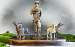 U.S. Working Dog Teams National Monument model