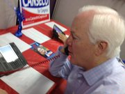 Texas Senator John Cornyn makes phone bank calls on behalf of 23rd District candidate Francisco Canseco.