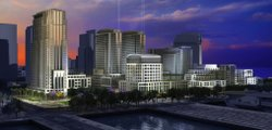 Artist&#39;s rendering of Doug Manchester&#39;s proposed redevelopment of the Navy Broadway Complex.