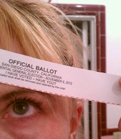 A ballot receipt.