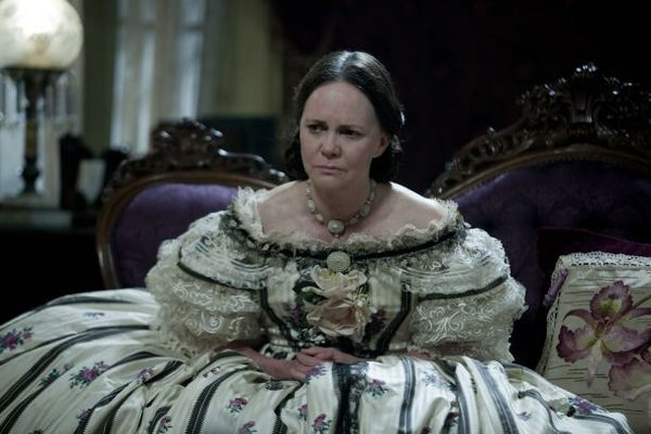 Sally Field as President Lincoln's oft-distraught wife, Mary Todd Lincoln
