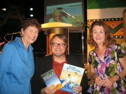 One Book, One San Diego author Luis Urrea poses in June with the One Book for Kids authors, Edith Hope Fine and Judith Pinkerton Josephson.