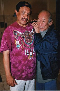 Sherman Helmsley and Pat Morita