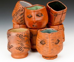 Clary Illian, &quot;Tea Bowls,&quot; Collection of Sanjay and Jigna Jani, and Collection of Todd Thelen &amp; Eric Dean.